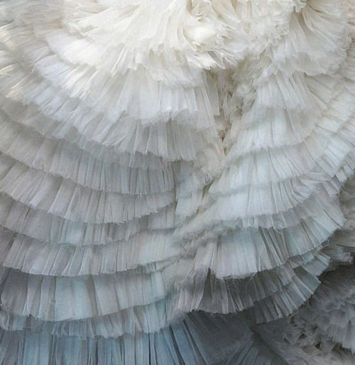 Alexander Mcqueen: Layered Cakes, Ruffle, Alexander Mcqueen, Wedding Plans, Mcqueen Autumn Wint, Ocean Waves, White Dresses, Bride Dresses, Fabrics Texture