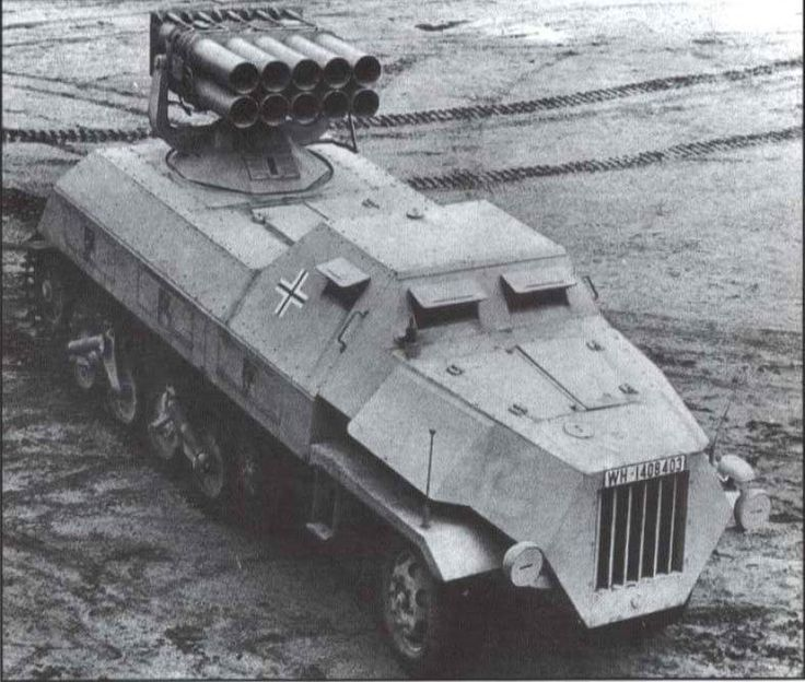 Panzerwerfer 42 on  maultier                                                                                                                                                                                 Mehr