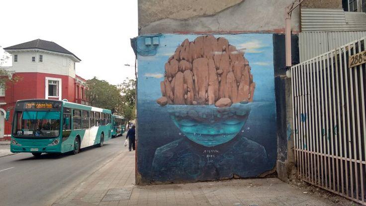 Street art yungay town/arte callejero barrio yungay chile