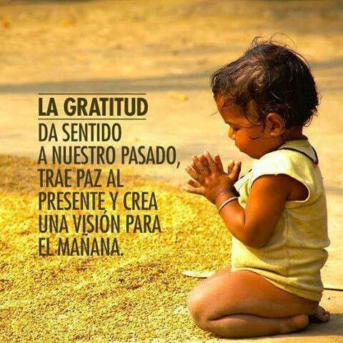 La gratitud...