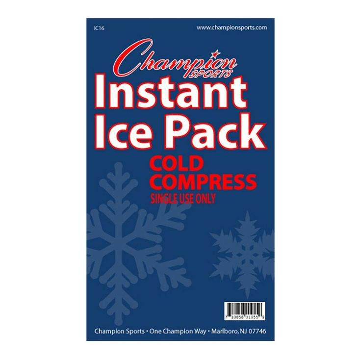 Champion Sports 16-pack Instant Cold Compress Ice Packs, Multicolor