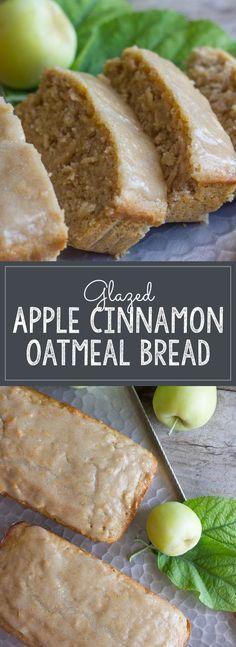 glazed apple cinnamon oatmeal bread