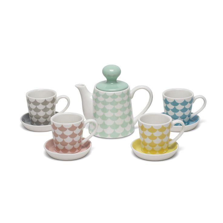 Play Porcelain - Mini Waves - White/multi