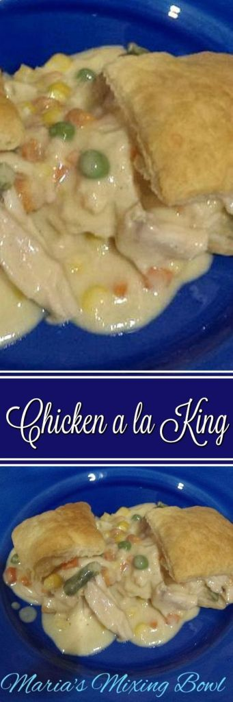 Chicken Ala King-This is what we call comfort food in our house. It brings back childhood memories. And best of all it is simple to make and is always a big hit in our house.