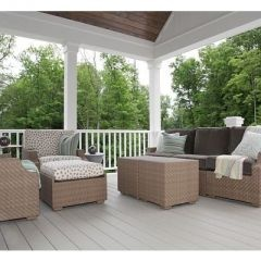 Covered Deck white
