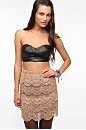 faux leather bandeau: Katie S Style, Urban Outfitters, Leather Sweetheart, Style Pinboard, Faux Leather, Leather Bandeau