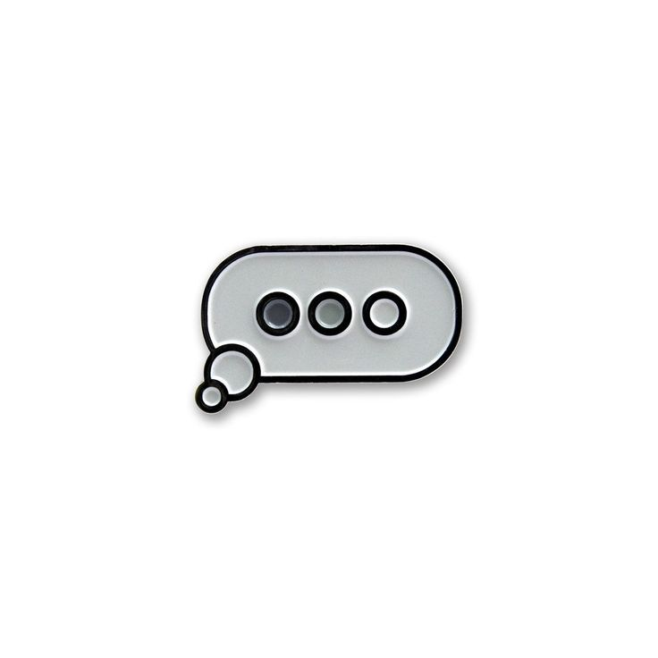 The Wait - Chat Balloon pin - Pin - Easily Amused - 1