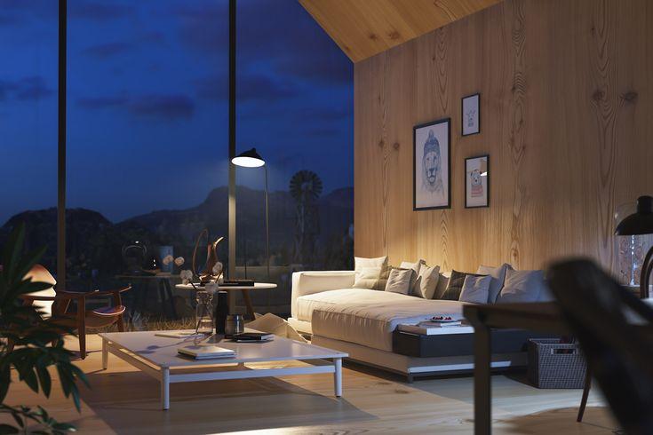 Cabin In Woods - Interior on Behance
