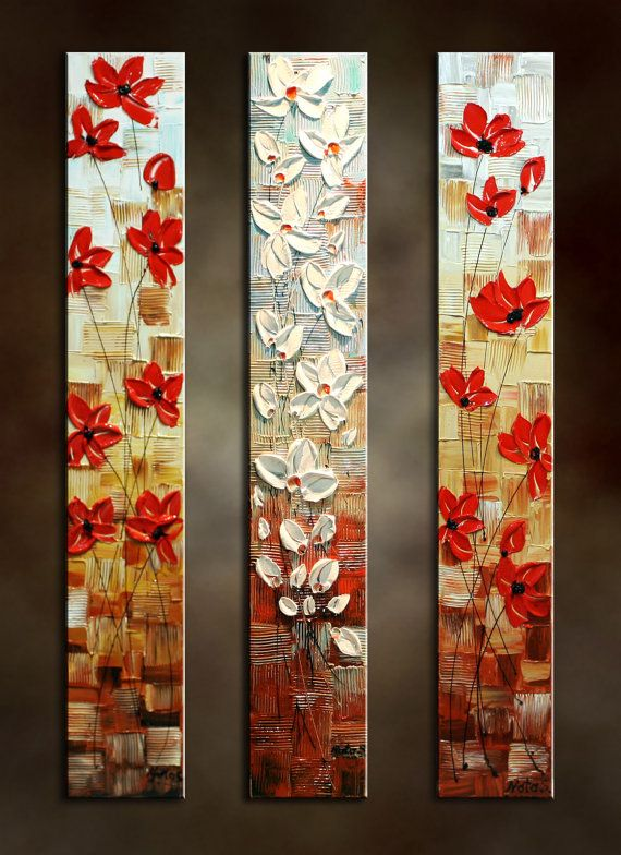 JUST for MARY....Original Abstract Poppy by NataSgallery on Etsy