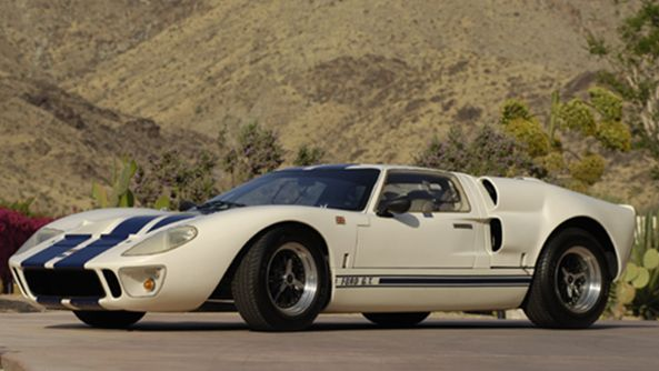 The original 1967 Ford GT40 LeMans car.  All American muscle!