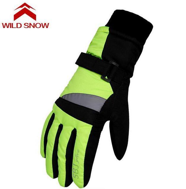 WILD SNOW Professional Children Ski Gloves Girls Boys Warm Winter Waterproof Snow Gloves Kids Guantes Snowboard Gloves