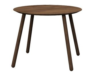 Round table OX, colour: Cacao, 100x100x76 - www.miloni.pl/en MILONI: wooden table, oak table, natural wood table, table design, furniture design, modern table