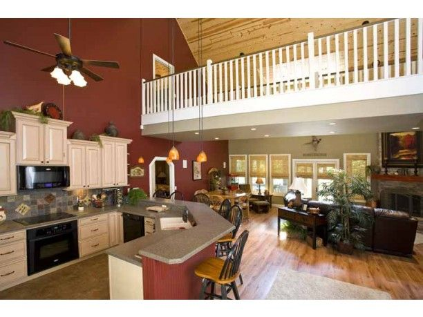 There 39 s wonderful openness in this spacious layout note for Open floor plan metal homes