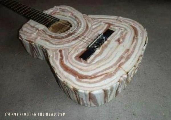 Bacon guitarBacon Rocks, Things Bacony, Music Instruments, Baconguitar, Food, Funny, Bacon Guitar, Bacon Art, The Band
