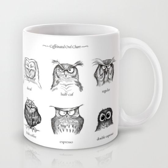 These owls delight me! :: Caffeinated Owls Mug