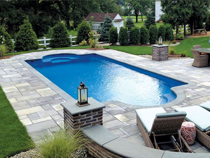 Small Fiberglass Pool Spa Combo