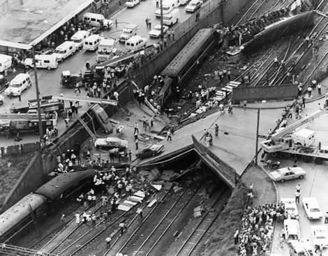 18 January,1977. At Granville near Parramatta, the worst train disaster in Australian History. 83 deaths and over 201 injured. v@e.