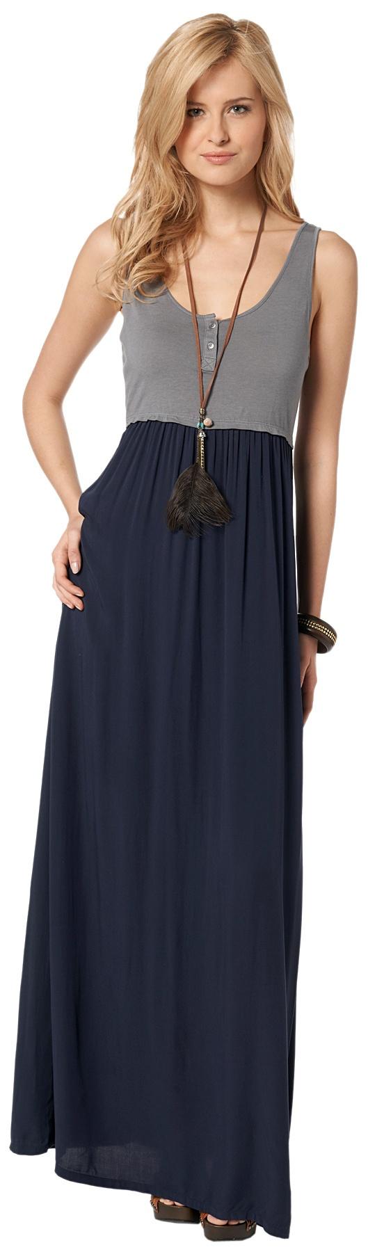 Two-Tone Maxi-Kleid für Frauen (2-farbig gestaltet)  - TOM TAILOR