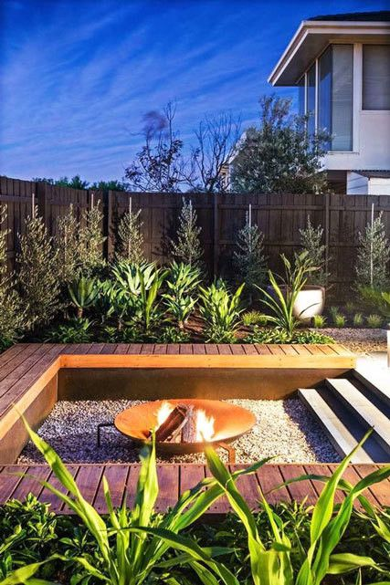 Modern steel fire pits are always a great upgrade to an outdoor space. They not only look cool, but really do keep you warm at night.
