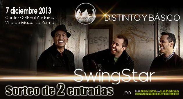 La Revista de La Palma regala 2 entradas para el concierto del trio grancanario SwingStar en la isla de La Palma. Diciembre de 2013