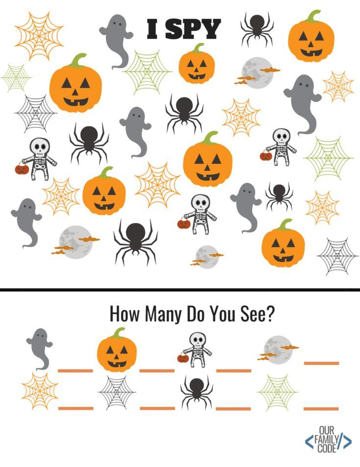 Free Halloween Worksheets For Kids Our Family Code Halloween Worksheets Halloween Preschool Halloween Activities