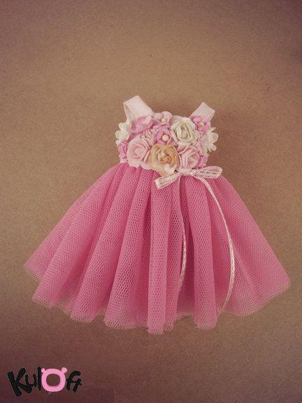 Shocking Pink flowers dress by kuloft on Etsy