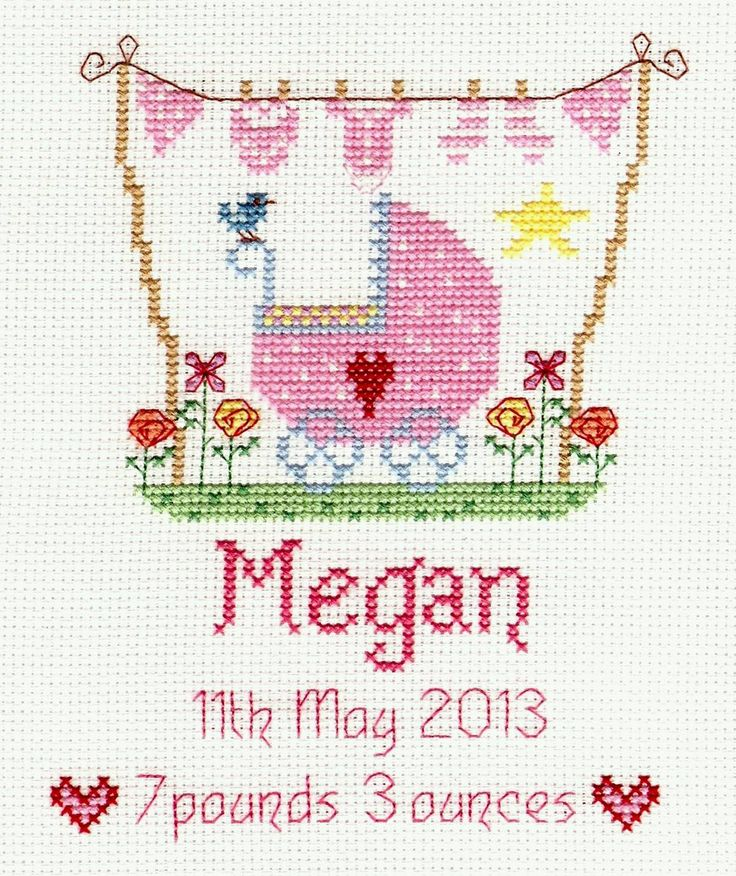 New Baby Girl Cross Stitch Kit from Nia from £16.45