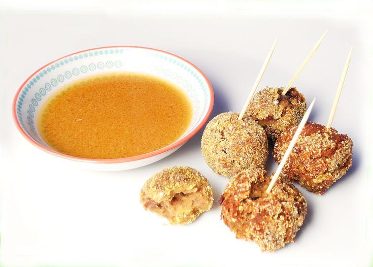 Polpette di azuki e zucca senza glutine