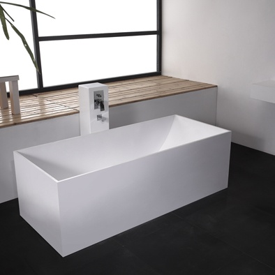 Description :Freestanding bathtub  Material: Solid Surface  white  matt  Code:100 6514  Model: SolidSTAR  Size:180 x 76 x 58 (h ) CM  Price ex Athens: Euro 1318,80  * with Matt Solid pop-up drainage w/pipe w/adjustable feet