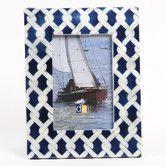 """Latitude 38 4"""" x 6"""" Nautical Rope Capiz Picture Frame"""