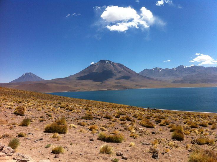 Lagunas altiplánicas en los Andes, 4321 m sobre el nivel del mar. Atacama, Chile.