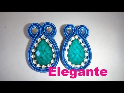 TUTORIAL incastonatura navetta e inserimento perline -DIY soutache earring - YouTube