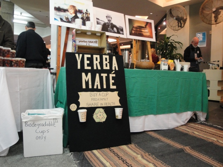 The traveling yerba mate bar in Cape Town, South Africa - this is where we share in health