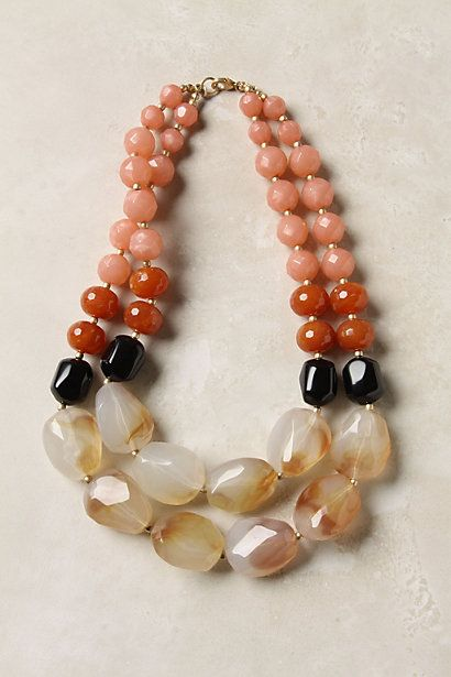 Papaya Pebbles Necklace