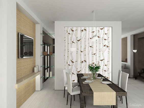 Bird In Tree Wallpaper Accent Wall Dining Room