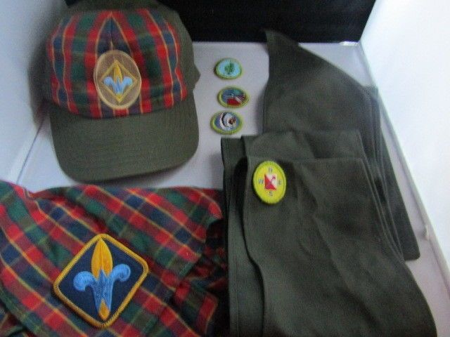 Boy Scout Sashes Neckerchief Patches and Cap Lot