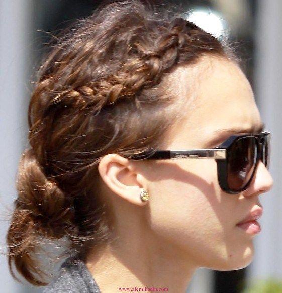 Örgülü Topuz Saç Modelleri 14