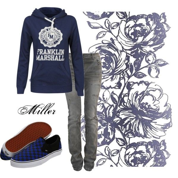 Need some outfit inspiration? Here's a comfortable #outfit by Luann Choi! #franklinandmarshall #hoodie #blue
