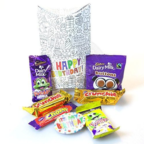 The Cadbury Funsize Birthday Pouch Freddo, Buttons, Chomp And Crunchie By Moreton Gifts