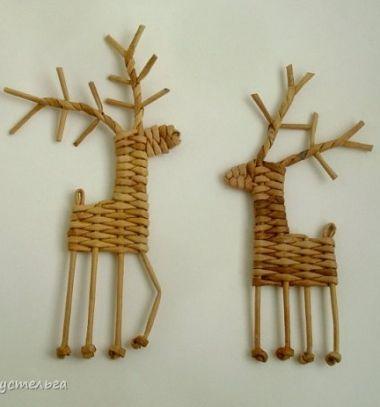 Aranyos rénszarvasok papírfonással / Mindy -  kreatív ötletek és dekorációk minden napra