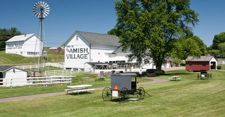 Lancaster County, PA - Experience today's Amish lifestyle with a guided farmhouse tour; then explore our 12-acre village grounds.