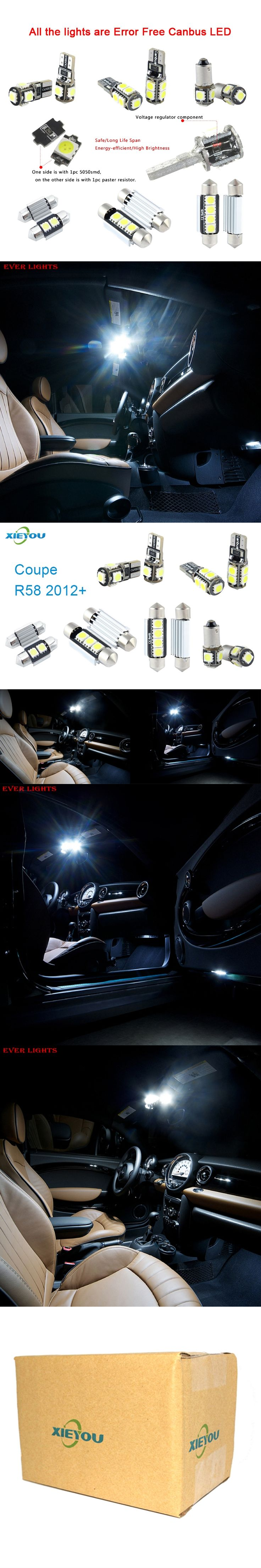 low voltage interior lighting kits%0A  pcs LED Canbus Interior Lights Kit Package For Mini Coupe R