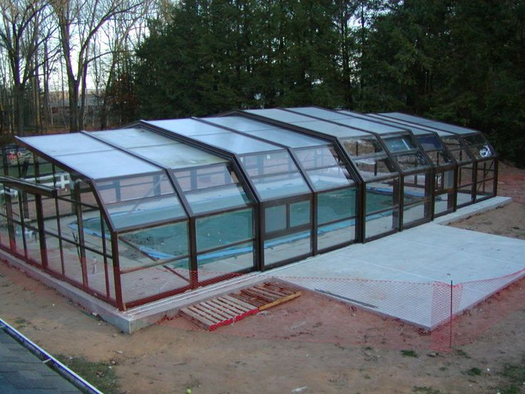 20 best greenhouse covered pool images on pinterest for Pool inside greenhouse
