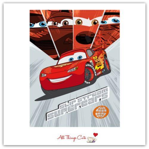Disney Cars 'Supercars' Fleece Blanket #Disney #disneycars #McQueen #blankets