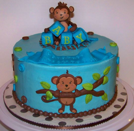 17 best images about baby shower on pinterest baby shower themes pregnant belly cakes and boys - Monkey baby shower cakes for boys ...