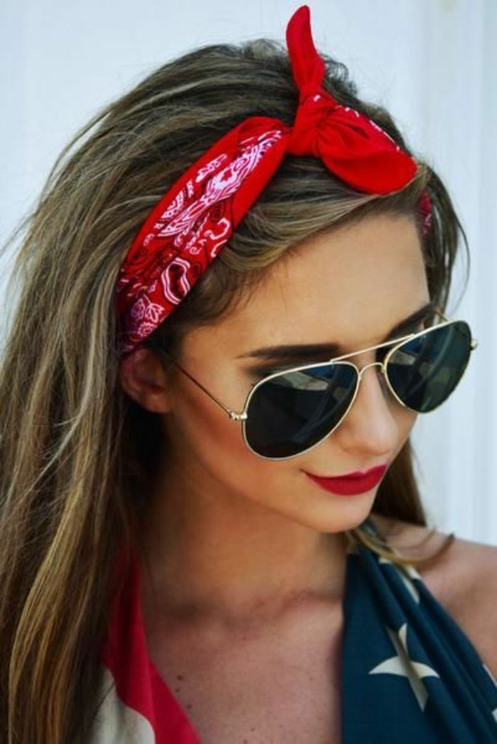 Pin By Veronica Contreras On Scarf Style Bandana Hairstyles Bandana Headband Hairstyles Headband Hairstyles