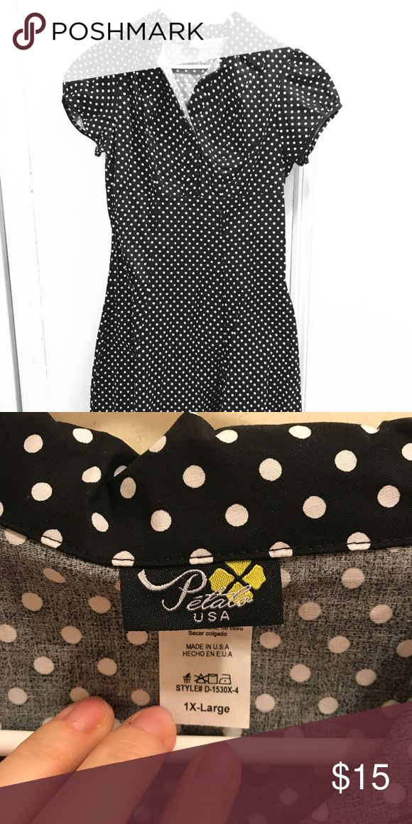 ModCloth soda shop style dress, polka dots. NWOT Vintage style ModCloth dress, never worn. XL. Modcloth Dresses