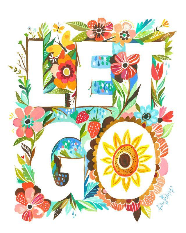 Let Go 8x10 Print. $18.00, via Etsy.