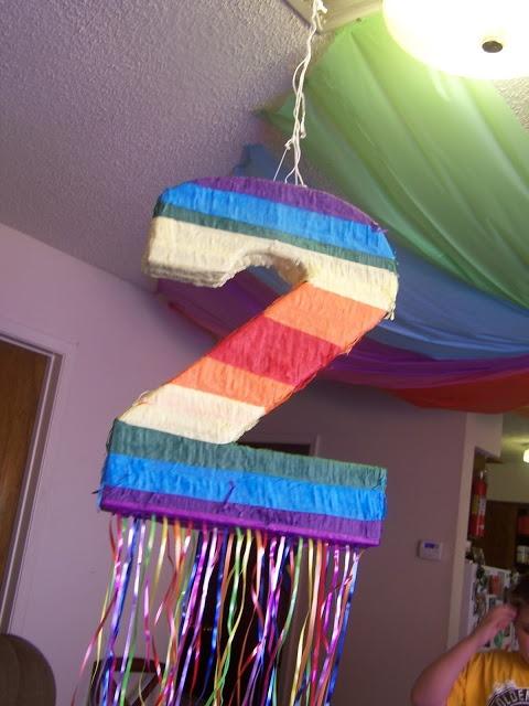 convert a regular pinata to a ribbon pull pinata for toddlers