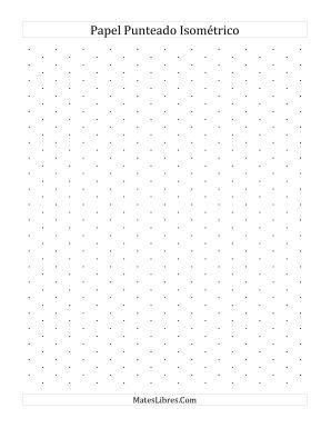 Papel Isométrico Punteado de 1 cm (Vertical) (Todas)
